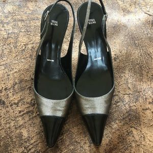 Black/ golden metallic made in Italy dress shoes